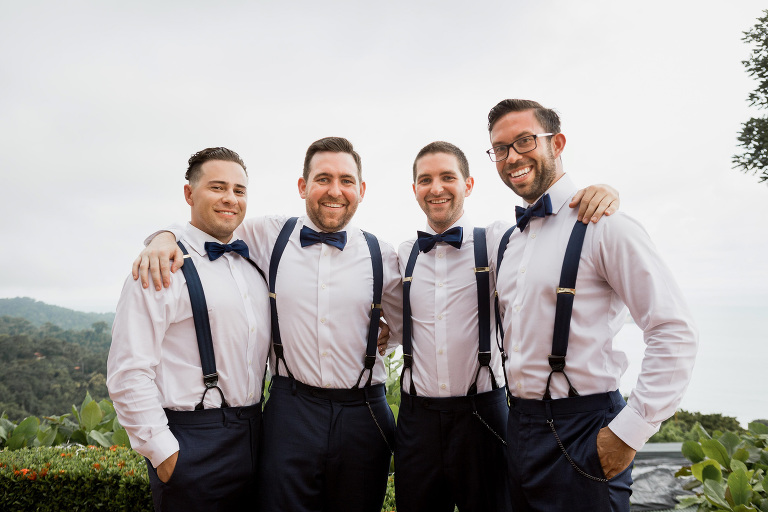 groomsmen La Mariposa Destination Wedding