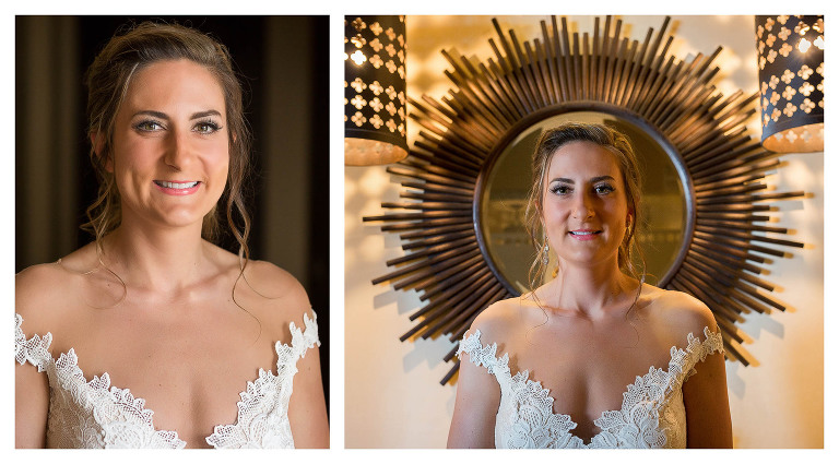 bride and dress in monte mar