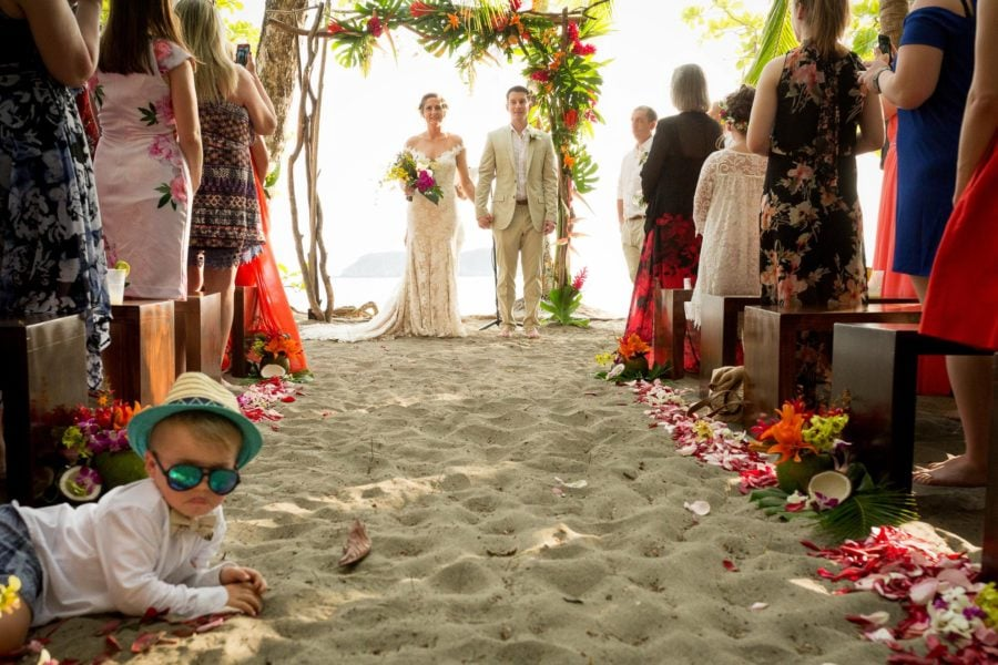 """couple walking down aisle after the """"I do's"""""""