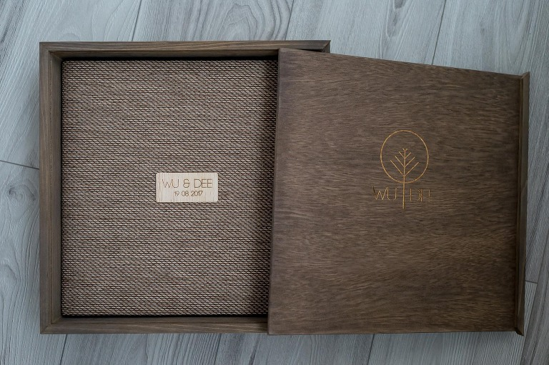 professionally printed wedding album